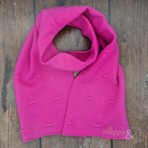 Bright pink felted merino wool scarf