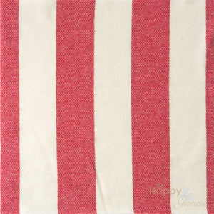 Red 'broadstripe' pure wool blanket by Melin Tregwynt