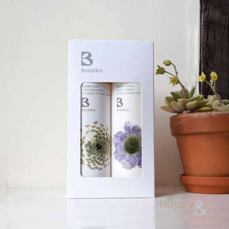 Bubble bath & body lotion gift set by Bramley Products