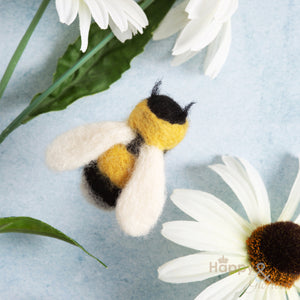 Bee brooch needle felting craft kit