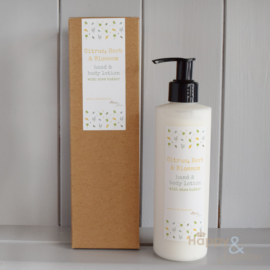Uplifting Citrus, Herb & Blossom hand & body lotion