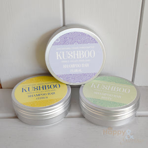 Kushboo handmade vegan shampoo bar with essential oils