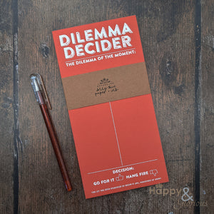 Dilemma decider shopping list notepad