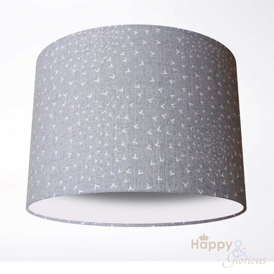 Grey flocking birds lampshade