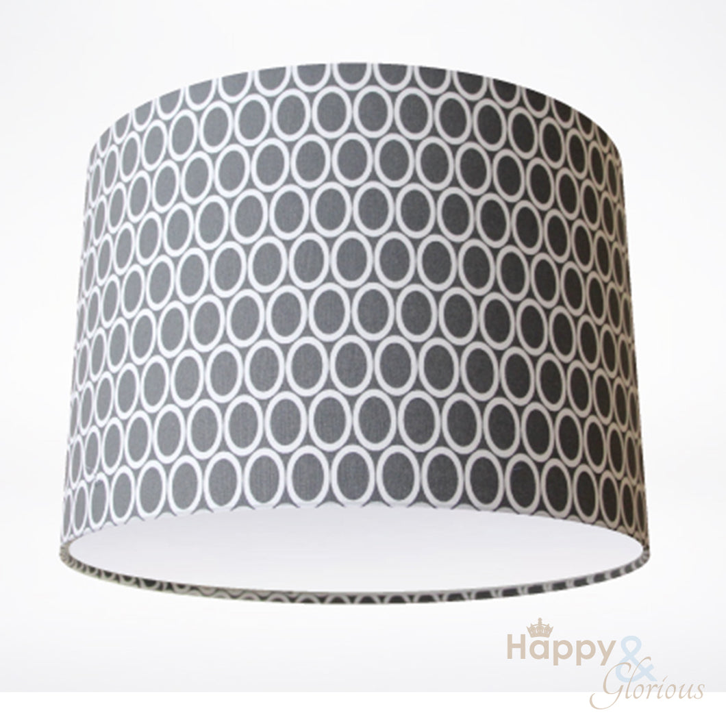 Grey ovals lampshade