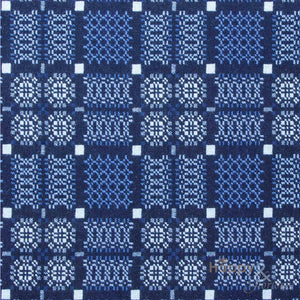 Indigo 'Knot Garden' pure lambswool throw by Melin Tregwynt