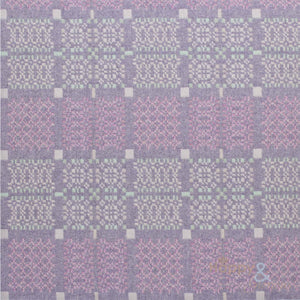 Lilac 'Knot Garden' pure lambswool throw by Melin Tregwynt