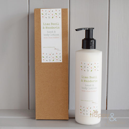 Lime Basil & Mandarin hand & body lotion