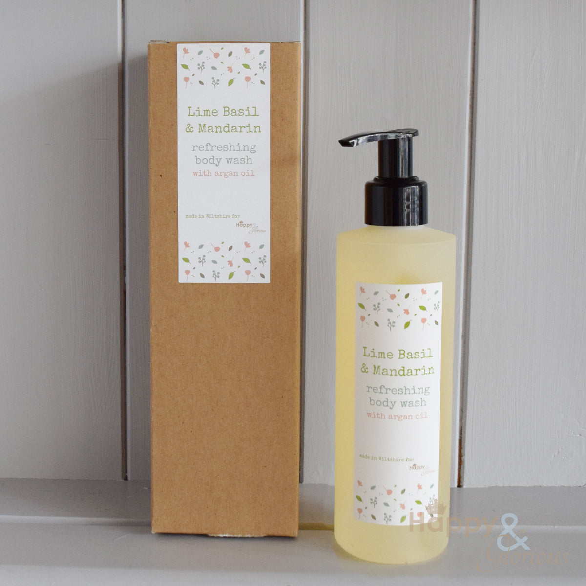 Refreshing Lime Basil & Mandarin body wash