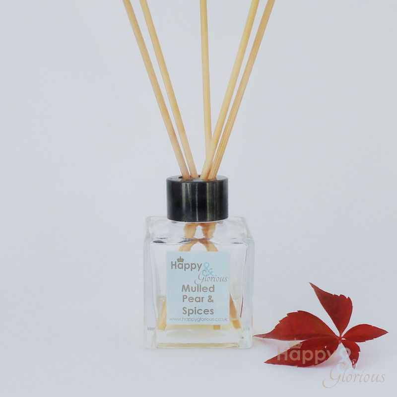 Mulled pear & spices fragrance reed diffuser