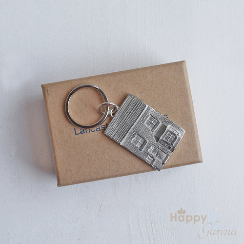 Pewter house keyring - handmade by Lancaster & Gibbings
