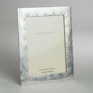 "Pewter 'hearts' 7x5"" frame by Lancaster & Gibbings"