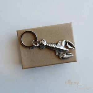 Pewter lobster keyring - handmade by Lancaster & Gibbings