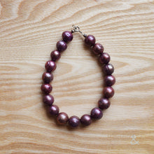 Freshwater pearl and sterling silver bracelet in a choice of colours