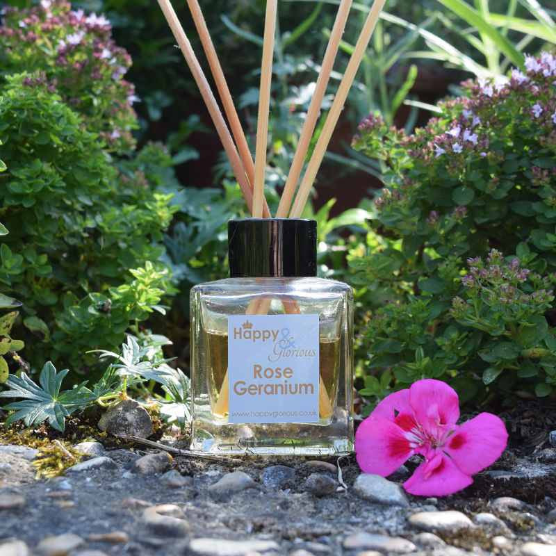 Rose geranium fragrance reed diffuser