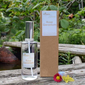 Rose geranium fragranced room & pillow spray