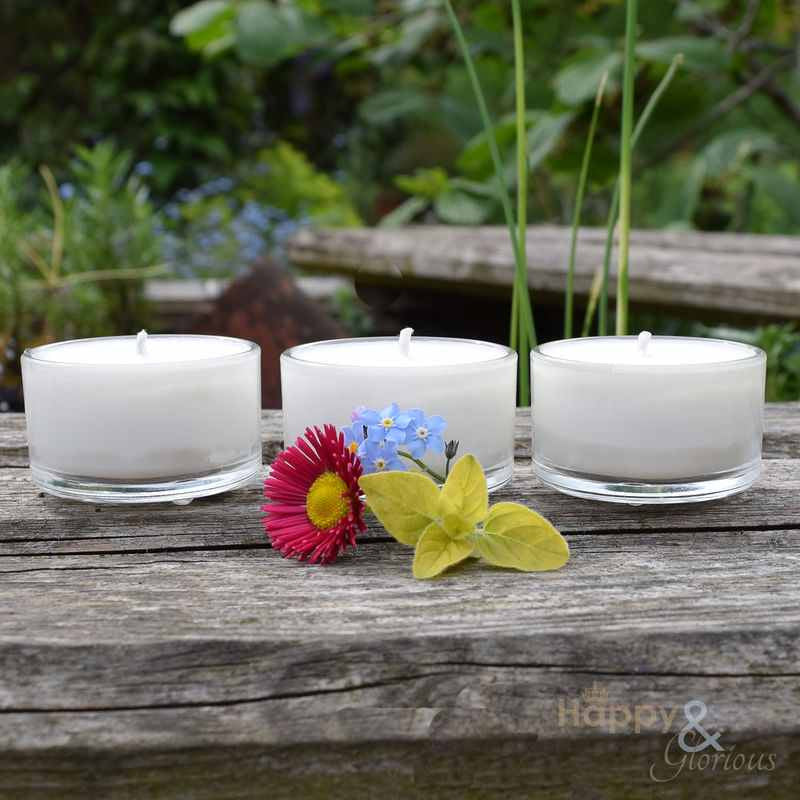 Wisteria, Orange Blossom & White Tea soy wax fragranced tealight candles - set of three