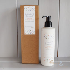 Soothing Lavender & Bergamot hand & body lotion