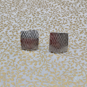 Square sterling silver geometric studs