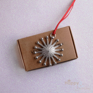 Pewter star Christmas tree decoration - handmade by Lancaster & Gibbings