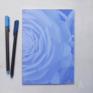 Botanical A5 lined notebook by Kate Tompsett in four colours