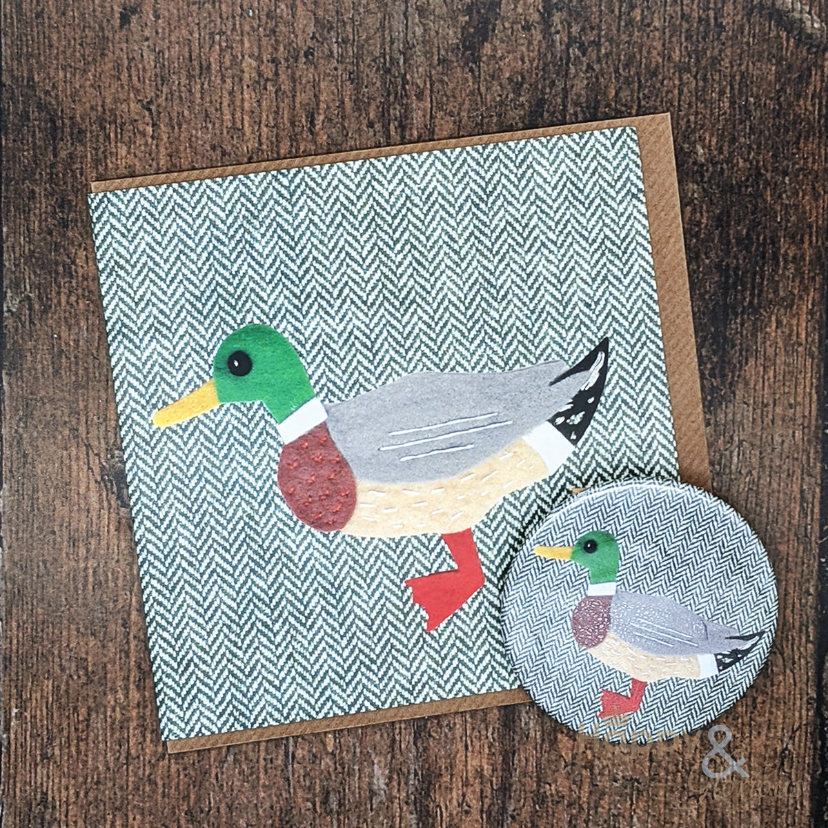 Tweedy birds duck pocket mirror & card