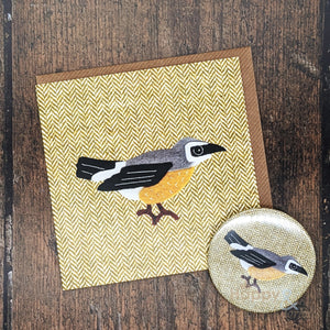 Tweedy birds wheatear pocket mirror & card