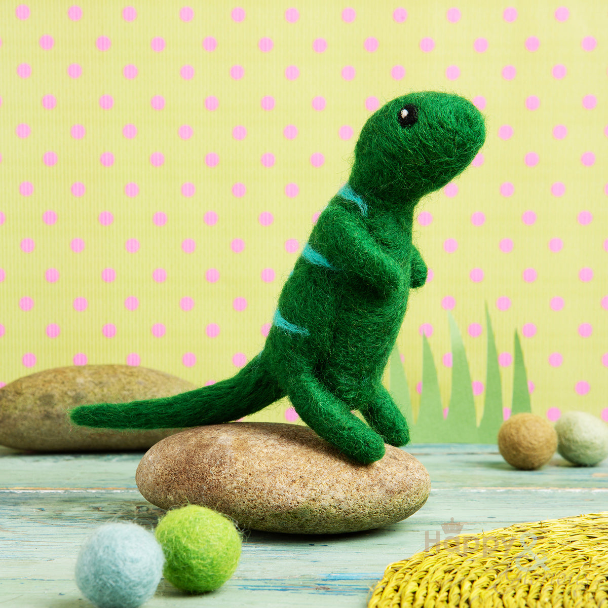 Mini t-rex needle felting craft kit