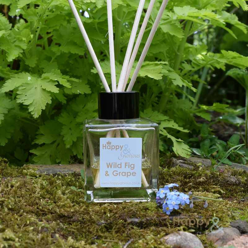 Wild fig & grape fragrance reed diffuser