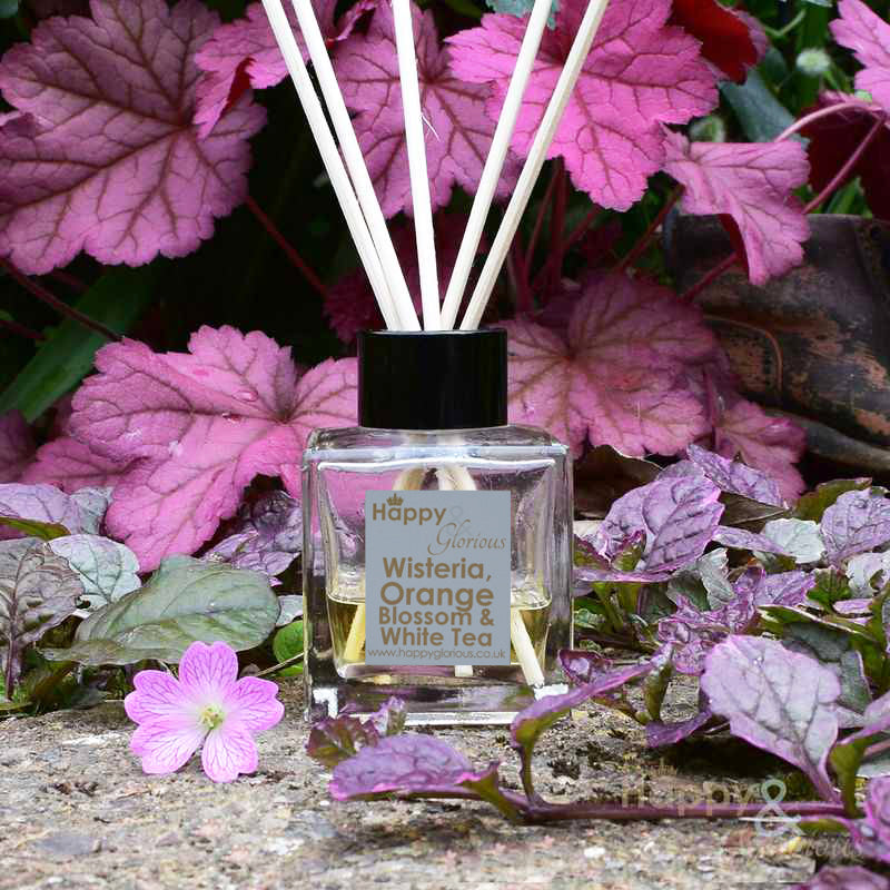 Wisteria, Orange Blossom & White Tea fragrance reed diffuser