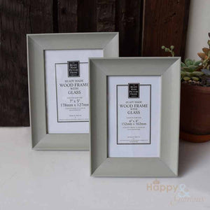Soft sage green wooden photograph frame