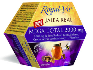 Comprar JALEA REAL ROYAL VIT MEGA TOTAL 2000MG 20 VIALES DIETISA