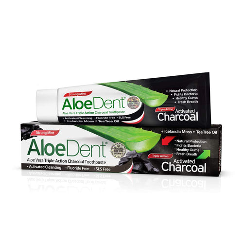 DENTIFRICO ALOE CON CARBON ACTIVO 100ML ALOE DENT