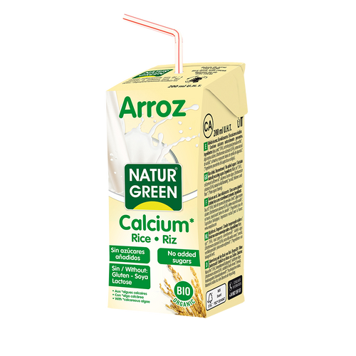 Comprar LECHE ARROZ CALCIO 20CL NATURGREEN