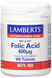 ACIDO FOLICO 400 100 TABLETAS LAMBERS