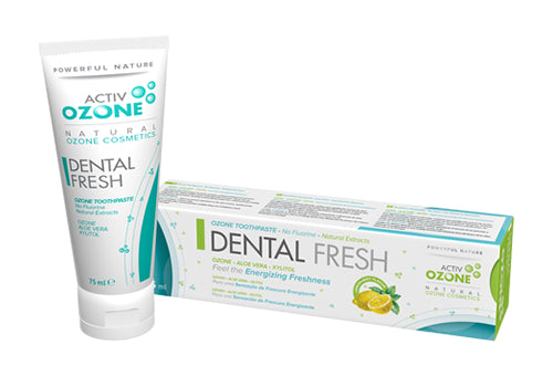 DENTÍFRICO ACTIVOZONE OZONE DENTAL FRESH 75ML - Herbolario El Búho