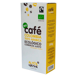 CAFE COLOMBIA 100% ARABICA 250GR BIO ALTER NATIVA COMERCIO JUSTO