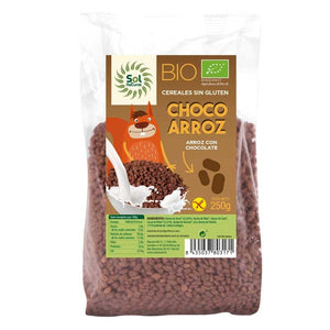 CHOCO ARROZ BIO 250G SOL NATURAL