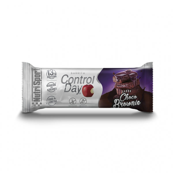 BARRITAS CONTROL DAY SABOR CHOCO BROWNIE  NUTRI SPORT
