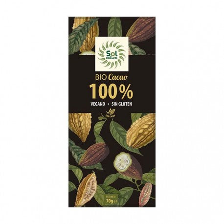 TABLETA DE CHOCOLATE PURO 100% BIO SOL NATURAL - Herbolario El Búho