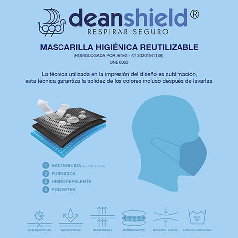 MASCARILLA REUTILIZABLE DEAN SHIELD
