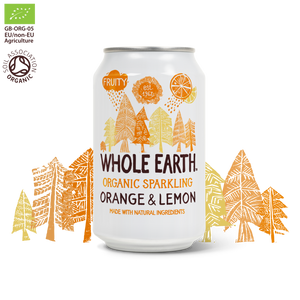 REFRESCO DE NARANJA LIMON SIN AZUCAR BIO 330ML WHOLE EARTH