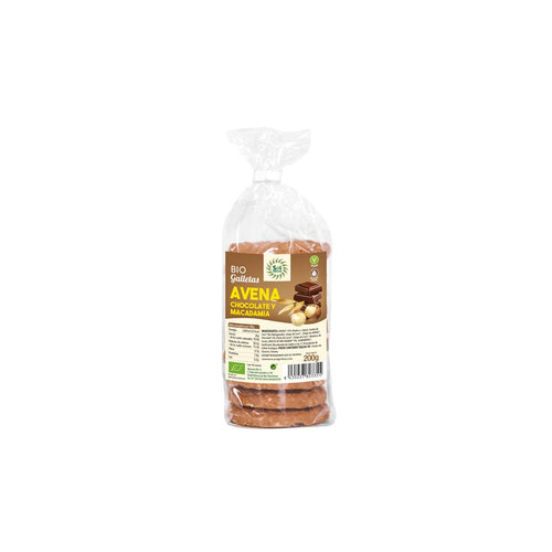 Comprar GALLETAS DE AVENA CON CHOCOLATE Y MACADAMIA BIO SOL NATURAL