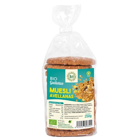 GALLETAS DE MUESLI CON AVELLANAS BIO SOL NATURAL
