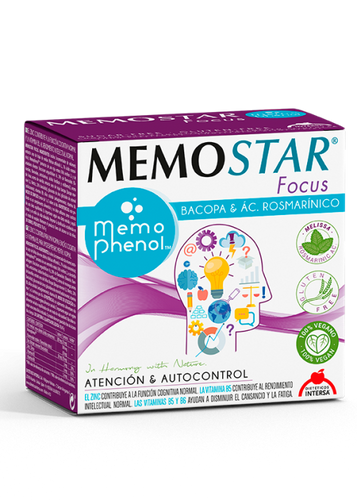 MEMOSTAR FOCUS 30 SOBRES DIETETICOS INTERSA