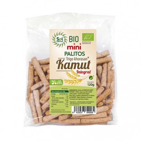 MINI PALITOS DE KAMUT INTEGRAL BIO SOL NATURAL