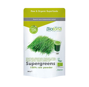 SUPERGREENS RAW POWDER 200G BIOTONA