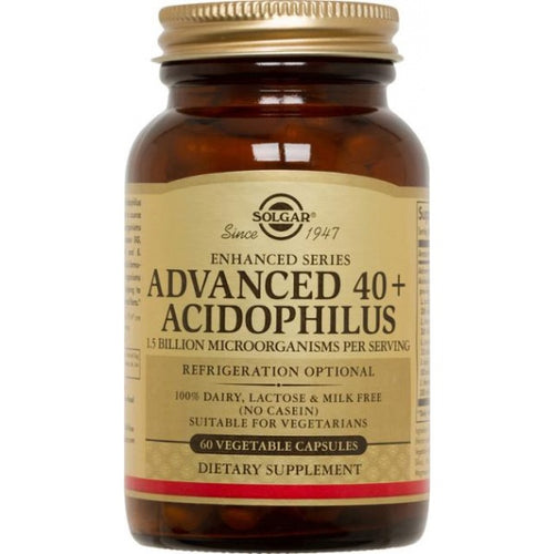 ADVANCED +40 ACIDOPHILUS PLUS 60 COMP. SOLGAR