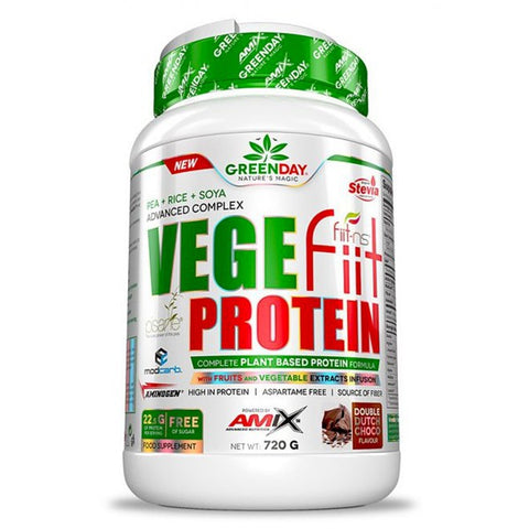 VEGE FIIT PROTEIN 720GR CACAH-CHOCO-CARAMELO GREENDAY AMIX