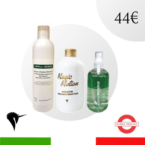Set natale - Shampoo, Spray cheratinico e Spray districante - Idea regalo per lei